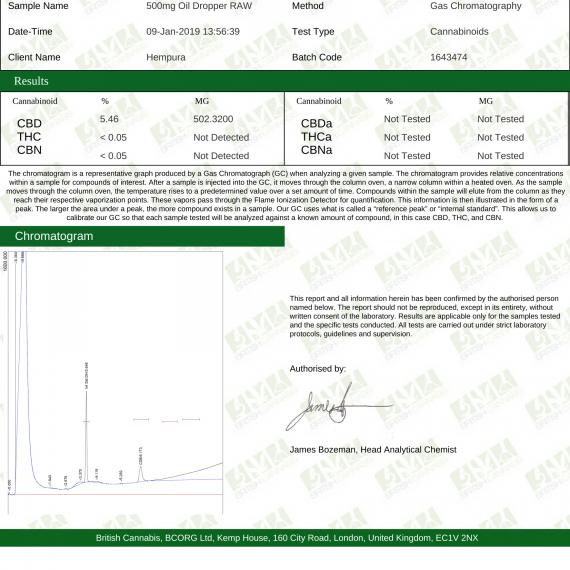 Hempura 500mg CBD E-Liquid