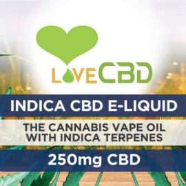 Love CBD E-Liquid Indica 250mg LABEL