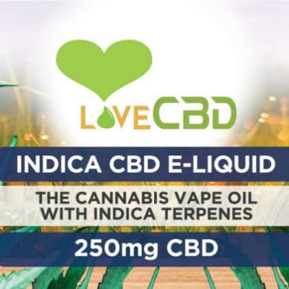 Love CBD E-Liquid Indica 250mg LABEL