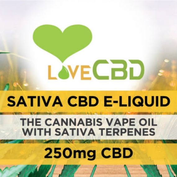 Love CBD E-Liquid Sativa 250mg LABEL