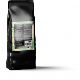 CBD infused coffee back of pack