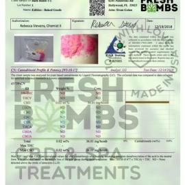Shea Skin Healer CBD Bath Bomb Lab Report