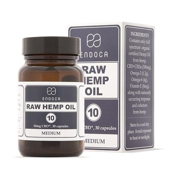 Endoca RAW CBD Oil Capsules