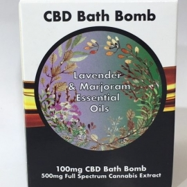 LVWell CBD Bath Bomb - Lavender and Marjoram